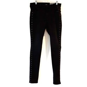 NYDJ | NWT AMI Skinny Studded black Leggings 12L